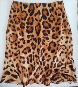 Escada Silk  Leopard Print Skirt