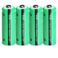 1.2v 400mAh 2/3AAA Rechargeable Battery NiMH Button Top for Solar Lights 4Pcs