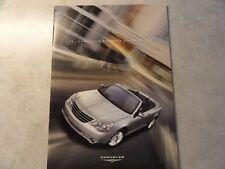 2009 Chrysler Sebring Convertible Sales Brochure