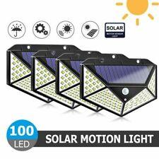 4X 100LED Solarleuchte Wandleuchte mit Bewegungsmelder Garage Außenlampe Licht