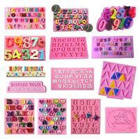 Silicone Alphabet Letter Number Fondant Mold Cake Decorating Baking Mould Tool