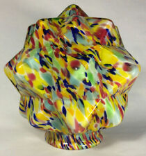 "New 3 1/4"" Multi-Color Art Deco End Of Day Starburst Lamp Shade Globe #SS960"
