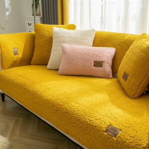 Winter Wool Sofa Towel Thicken Plush Soft Smooth Sofa Covers For Living Room