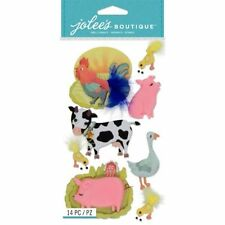 NEW - Jolee's Boutique - FARM ANIMALS - pigs rooster cow chicks goose