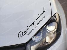 Dodge Racing Mind Sticker for Bonnet RAM Charger Challenger SRT Journey