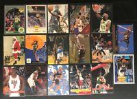 Shawn Kemp-17 cards- 1990-1998 -Hoops/Fleer Rookie Card/Skybox Topps/Upper Deck