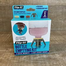 New! Flip-It Bottle Emptying Kit for Condiments/Lotion/Shampoo/More - Gray