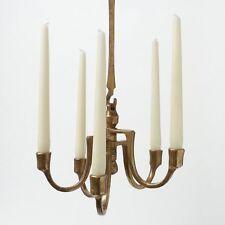 HARJES Bronze 5-flam Kronleuchter Hängeleuchter Chandelier Pendant Candle Holder