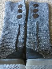 Ugg Gray Sweater Button US 5 Women's Boots