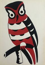 ART DECO work on paper 'The OWL' Animals - ca 1930 - FRENCH MODERNISM