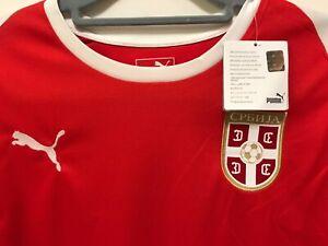 NEU PUMA Herren Fußball Trikot Gr. M Serbien СРБИJA Rot Weiß