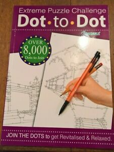 A4 Dot to Dot book adult extreme puzzle challenge plus mechanical pencil