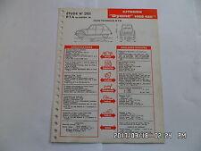 FICHE TECHNIQUE DE RTA CITROEN DYANE 1968 425 CM3 N°261 01/1968         G12