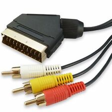 5m RCA TO SCART CABLE  AUDIO/VIDEO Gold Plated 5 METRE