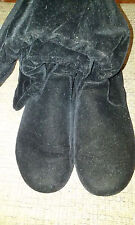 Hot Cakes 'Dynasty' Faux Suede Black Slouch Boot Size 6 M
