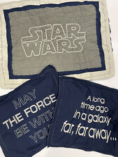 Pottery Barn Kids Star Wars Force Be With You Pillowcases- Set of 3 Navy