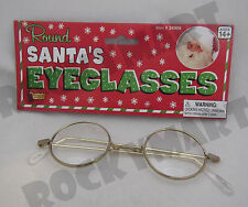 Round Santa Potter Granny Glasses Adult Costume Halloween Christmas Party RM2681