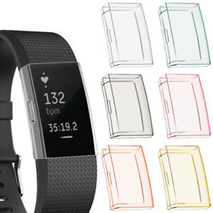 Soft Full Protective Case Cover Screen Protector For Fitbit Charge 2 Bracelet