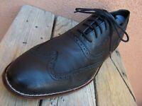 COLE HAAN Mens Dress Shoes Soft Black Leather Lace Up Wingtip Oxford Sz Size 11M