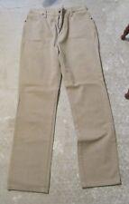 Wrangler Jeans Size 16 - 34 Straight Leg 13MTNM Lt. Tan No holes
