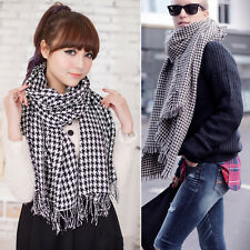 New Sales Winter houndstooth Scarf Soft Wrap Stole Shawl Men Women Plaid Scarves