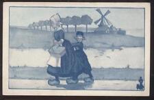 Postcard Promo Ad WALK OVER SHOES DUTCH CHILDREN #4 view 1910's?