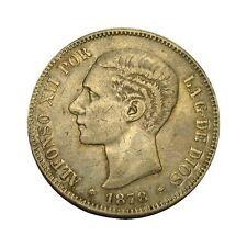elf Spain 5 Pesetas 1878 EMM  King Alfonso XII