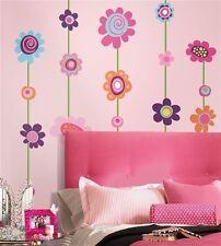 FLOWER stripes GIANT wall stickers 53 decals garden room decor dorm teen nursery