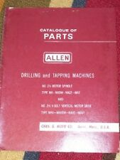 Cnc, Metalworking & Manufacturing I.o Johansson Co Drilling Machine Instruction Manual Parts List Model 32503
