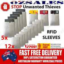 5x Passport & 12x ID RFID Blocking Credit Card Sleeve Shield Holder Protector b
