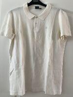 Mens Calvin Klein White Polo Shirt CK Embroidered Logo Chest 38 Medium T-shirt