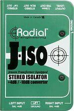 Radial Engineering J-ISO Jensen Transformer Equipped Stereo Isolator New 2day de