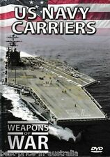 WEAPONS OF WAR: US Navy Carriers DVD + BOOK WORLD WAR TWO WWII Ship BRAND NEW R0