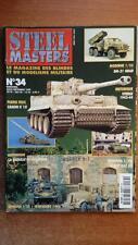 STEEL MASTER N° 34 : DU PERSHING AU PATTON - MOTOS GUERRE - BLINDES - MAQUETTES