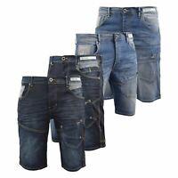 Mens Denim Short Summer  Firetrap  Jeans Knee Length Pants