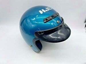 Vintage HJC SNELL M90 Helmet with Visor Teal in Color EUC DOT FAST SHIPPING!