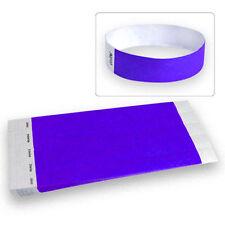 "3/4"" Tyvek Wristbands Purple -100 Count"