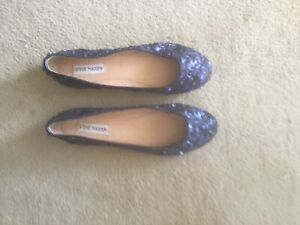 Shoe teals Sequinned Covered Flatly A Round Toe Stunner 9 Steve Madden