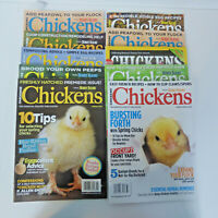 10 - CHICKENS Magazine Hobby Farms Poultry Chicks Raising Chickens Lot of 10