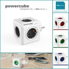 allocacoc PowerCube Original, Steckdosenwürfel und Reiseadapter & 5x Steckdose