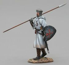 THOMAS GUNN MEDIEVAL KNIGHT MED004B CRUSADER WITH SPEAR UP BLACK SHIELD MIB