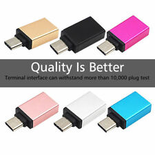 Lot of 3 USB 3.0 Female to USB Type C 3.1 Male Data Adapter For OnePlus/MacBook
