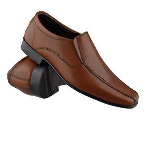 Mens Leather Slip On Smart Casual Formal Work Office Moccasin Designer Shoe Size