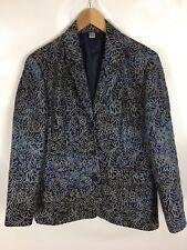 Blazer, Größe 42, Blau mit floralem Muster