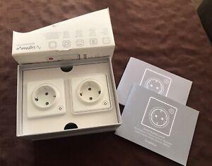 Lightwave EU Smart Series Twin Socket Pack works with HomeKit / Alexa / Google