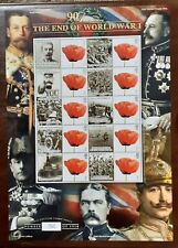 2008 Bc-183 The End Of World War One Mnh Smiler Sheet Limited Edition 1540-1918