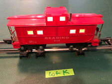 American Flyer Lines S Train 630 Red w/Black Base Lighted Caboose w/Link Lot K