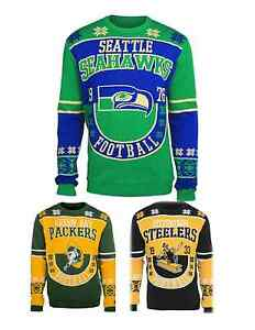 NFL Football Team Logo Warm Winter Cotton Retro Sweater - Pick Your Team!