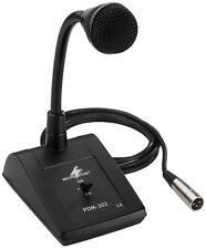Monacor ELA-Tischmikrofon, 600 Ω mit Schwanenhals, XLR, sym.  PDM-302   !!!