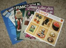 LOT OF 4 FIMO PROJECTS BOOKLETS~~FIMO FOLKS, FRIENDLY & FIMO FACES, ETC.~VGC